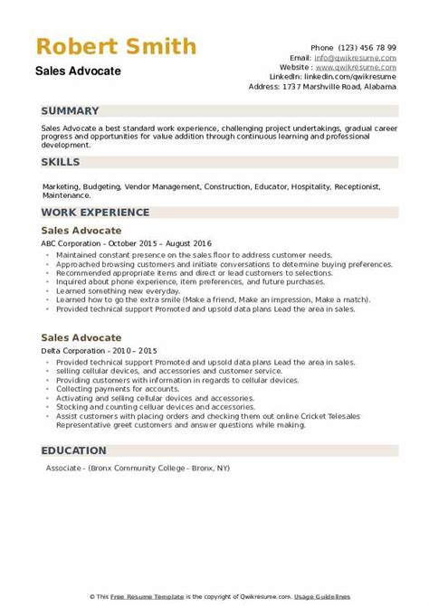 advocate resume format pdf job description of sales development