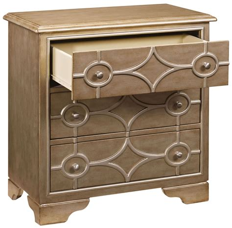 Aguilera 3 Drawer Diamond Overlay Chest