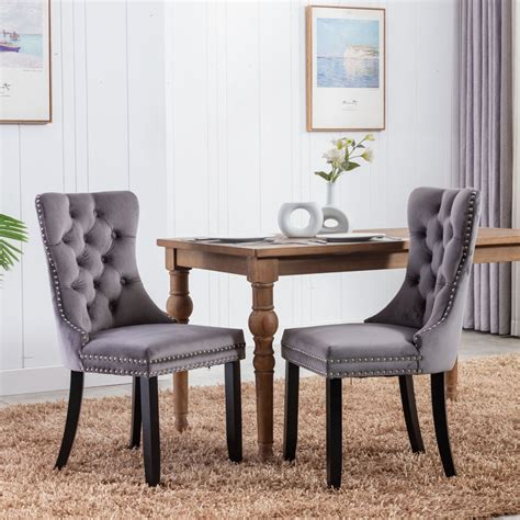 Ahumada Tufted Upholstered Dining Chair (Set of 2)