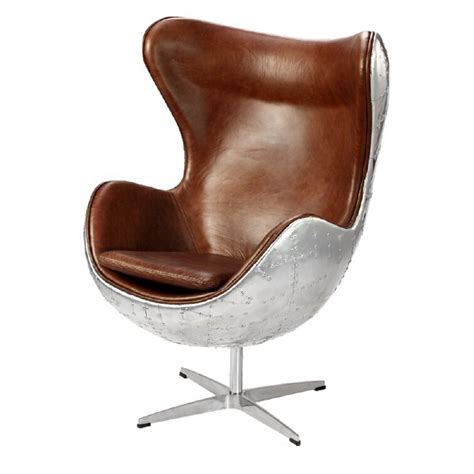 Ailbe Leather Balloon Chair