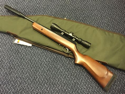 Rifle-Scopes Air Rifle With Scope And Silencer.