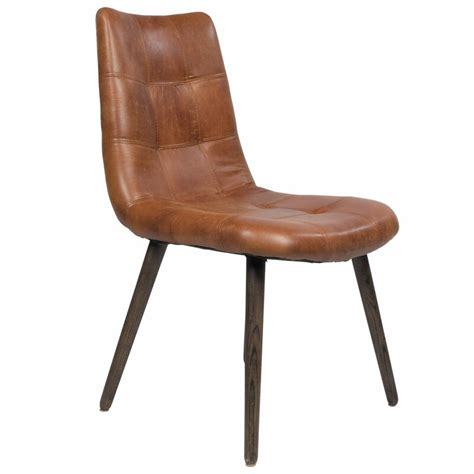 Alamo Genuine Leather Upholstered Dining Chair