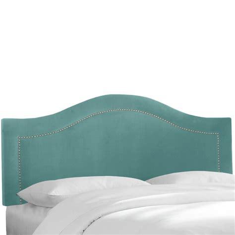 Alaraph Velvet Inset Nail Button Upholstered Panel Headboard