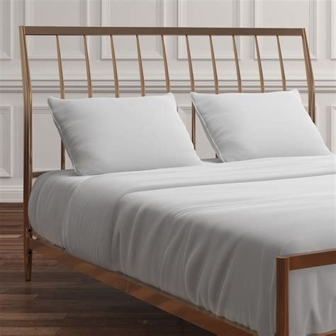 Albina Metal Sleigh Bed by Willa Arlo Interiors