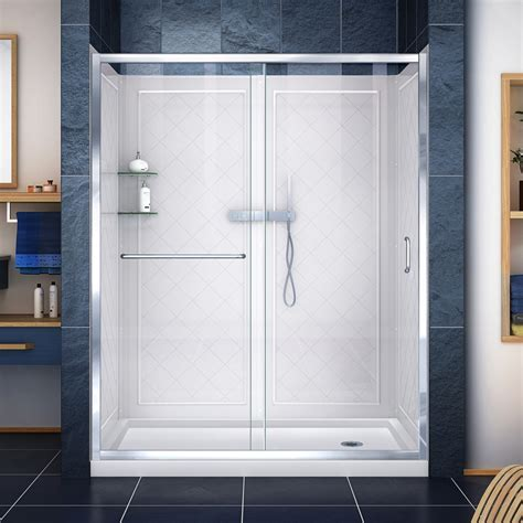 "Alcove 75"" x 60"" x 36"" Shower Wall Kit"