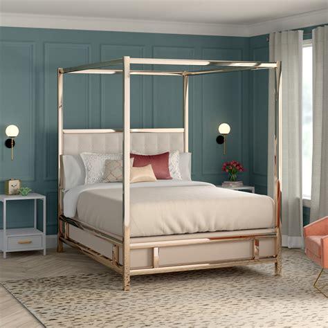 Alek Upholstered Canopy Bed