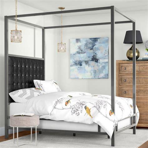 Alek Upholstered Canopy Panel Bed