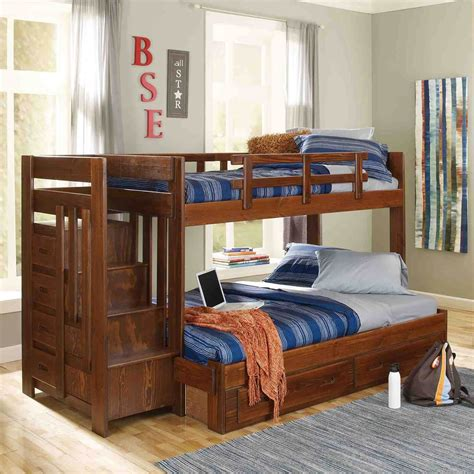 Algomera Twin Over Full Bunk Bed with Stairway Chest by Harriet Bee