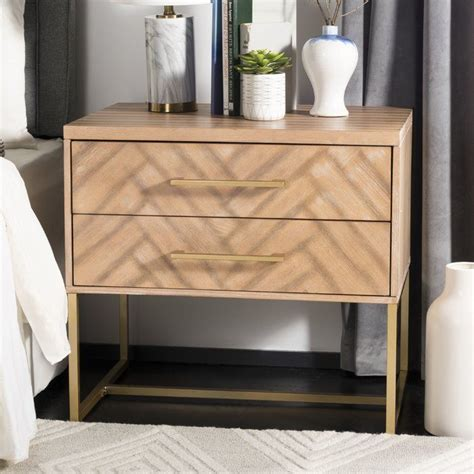 Ally 2 Drawer Nightstand