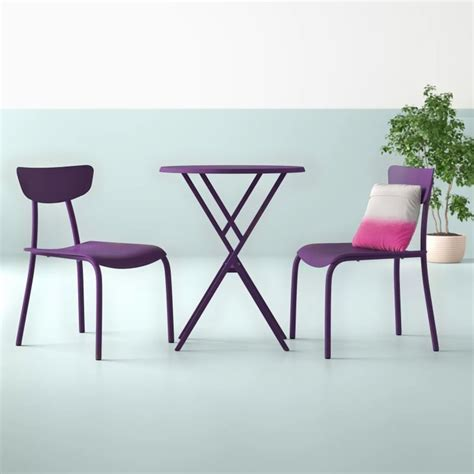 Alondra 3 Piece Iron Bistro Set