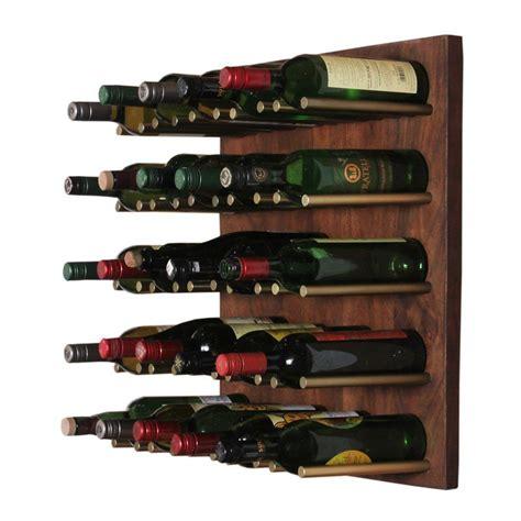 Alsace 25 Bottley Wall Mounted Wine Bottle Rac by
