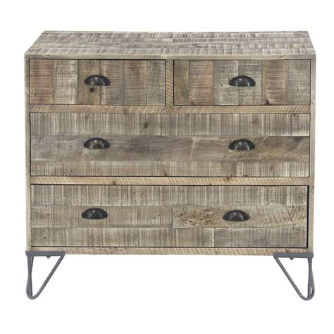 Alsey Rustic Teak and 4 Drawer Accent Chest