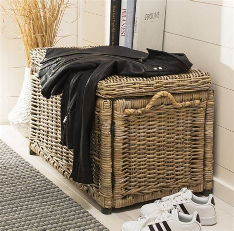 Altagore Wicker Storage Trunk