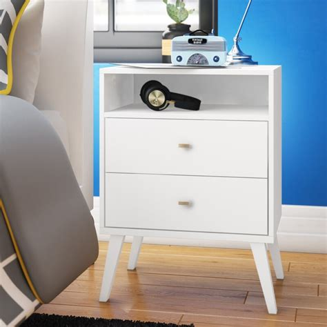 Alyssia 2 Drawer Nightstand
