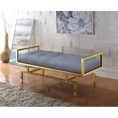 Amare PU leather Tufted Bench