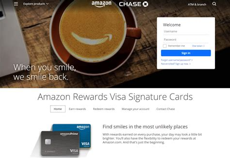 Amazon Credit Card Chase Visa Chase Freedom Activate 5 Cash Back Chase
