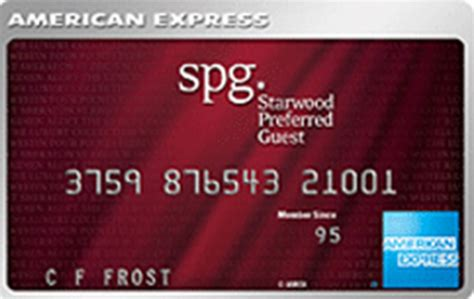 American Express Credit Card E Statement Starwood Preferred Guest Credit Card From American Express