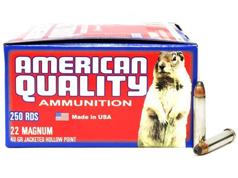 Ammunition American Quality Ammunition 22 Wmr.