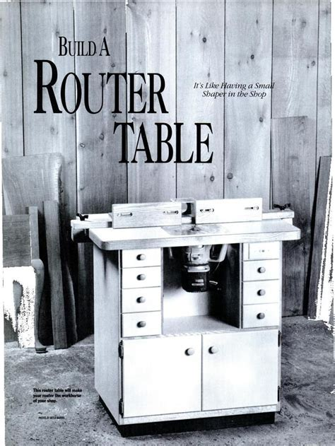 American Woodworker Router Table Plan