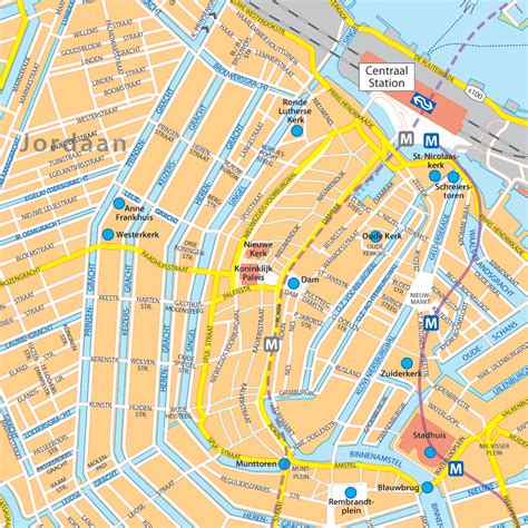 Amsterdam Centrum Plattegrond