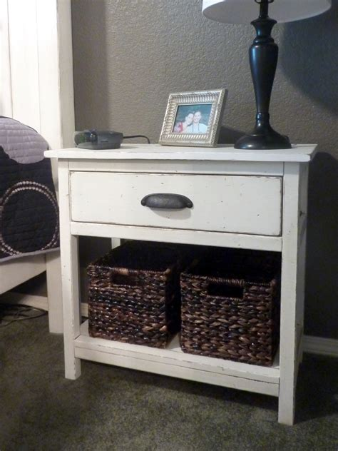 Ana White Bedside Table