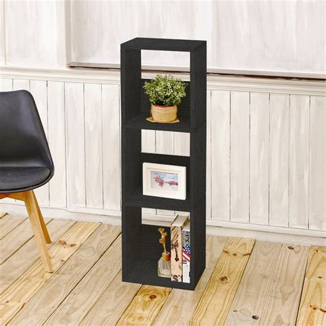 Andrade Trio Eco 3-Shelf Narrow Cube Unit Bookcase
