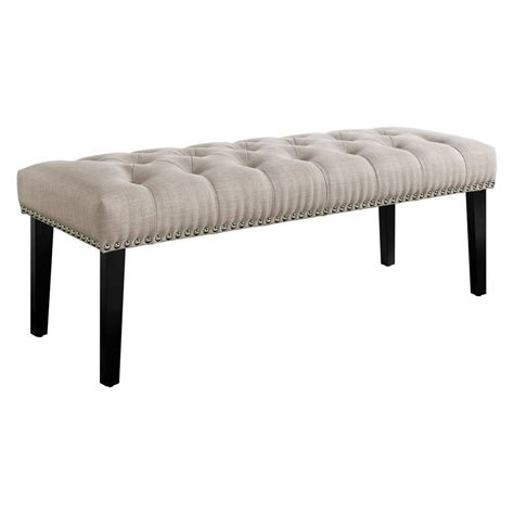 Angelina Button Tufted Upholstered Bench