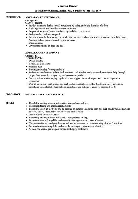 sample resume pet care animal care worker resume sample livecareer