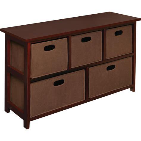 Anna 5 Folding Fabric Basket Storage Unit