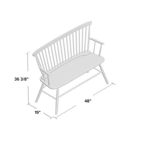 Annie Rubber Wood Bench