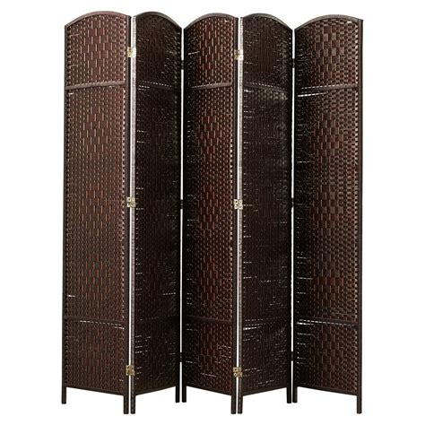 Anthurium 71x 80 Tall Diamond Weave Fiber 5 Panel Room Divider