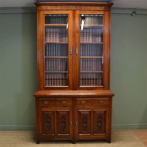 antique bookcases walnut