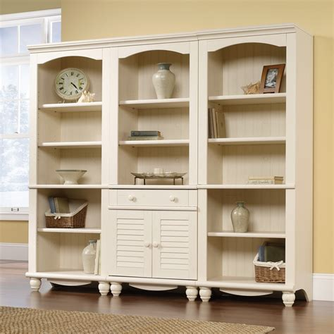 antique white bookcase bed