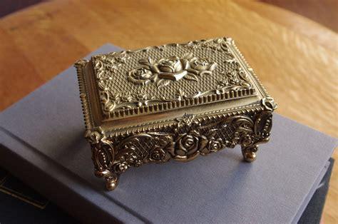 Brass Antique Brass Jewelry Box.