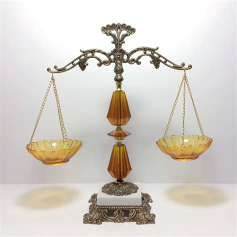 Brass Antique Brass Scales Of Justice.