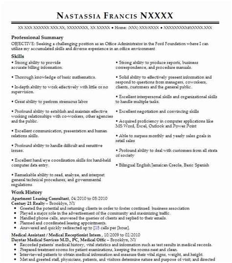 Apartment Leasing Consultant Resume Sample Best Format