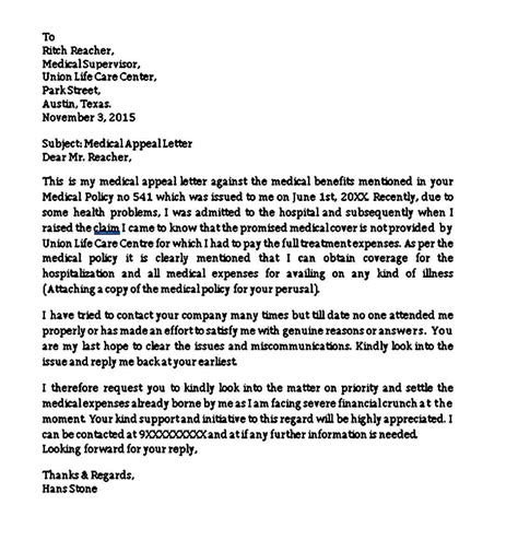 appeal letter to insurance company medical necessity letters of medical necessity myriadpro - Medical Appeal Letters