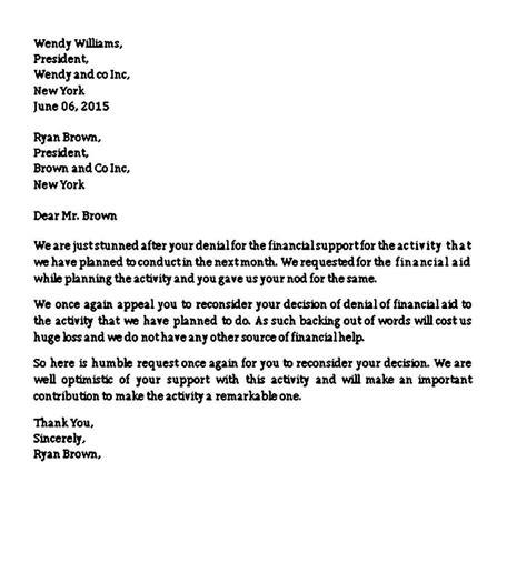letter template school appeal decision appeal letter sample appeal letter format