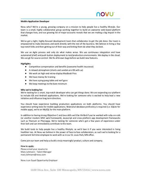 application development job description
