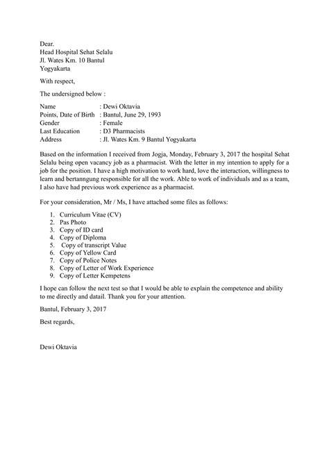 Application Letter Dan Artinya Good Executive Resumes