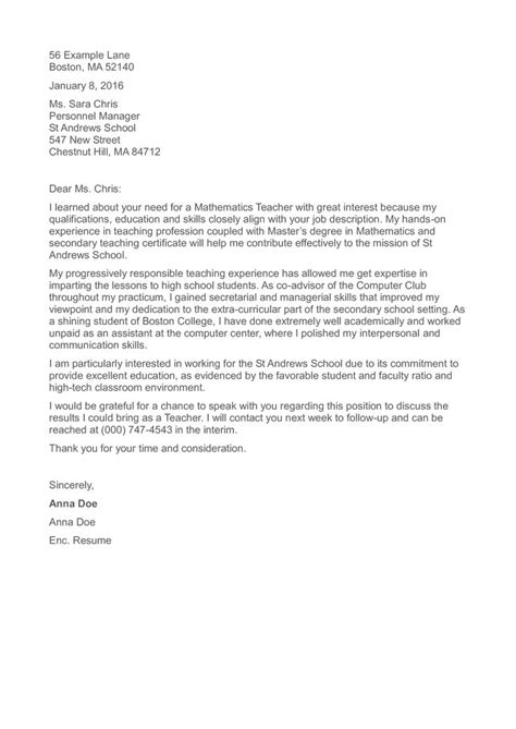 application letter kindergarten teacher position job winning teacher cover letter teacher