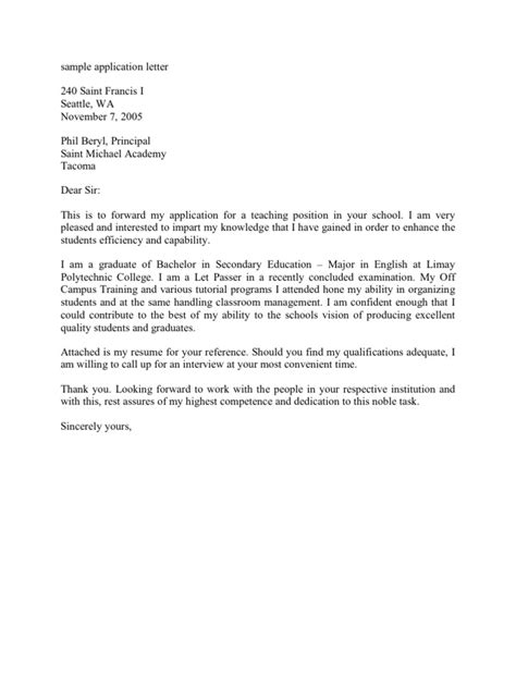 Application Letter Examples For Ojt Sample Application Letter For On Job Training Ojt