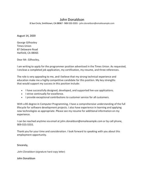 Application Letter To Job Writing Your Job Application Letter Example And Tips