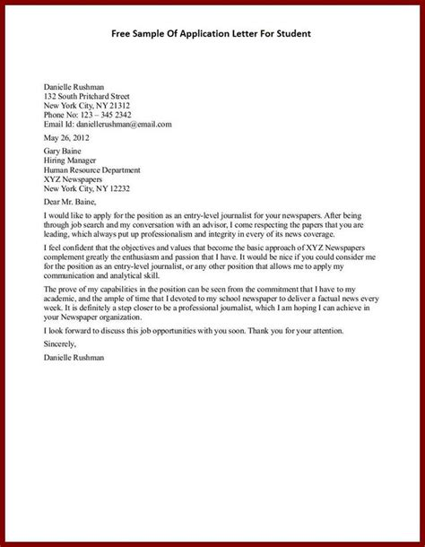 Application Letters Application Letter Free Sample Letters