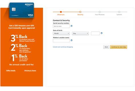 Applied For Amazon Credit Card Amazon Amazon Rewards Visa Signature Card Credit