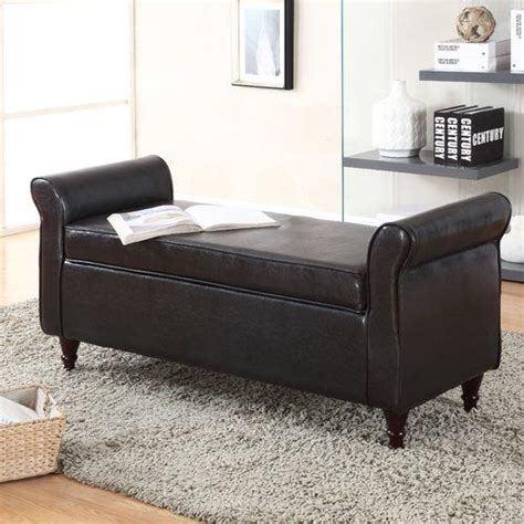 Arbouet Faux Leather Storage Bench