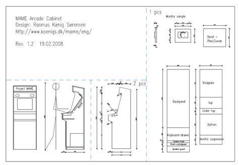 Arcade Machine Cabinet Plans