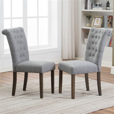 Arche Contemporary Upholstered Parsons Chair (Set of 2)