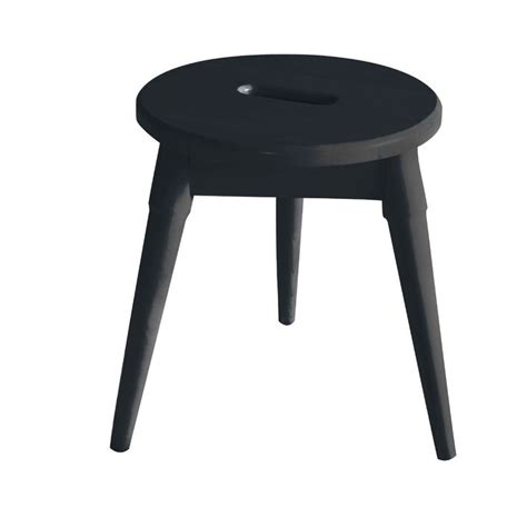 Ardell Solid Wood Round Tripod Accent Stool