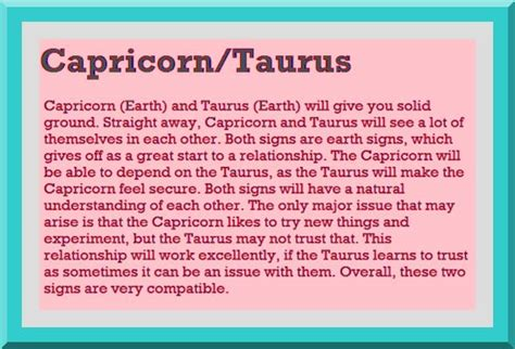 Taurus-Question Are Taurus Compatible With Capricorn.